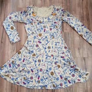 Blutsgeschwister Vintage novelty ad print dress